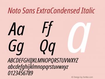 Noto Sans ExtraCondensed Italic Version 2.001; ttfautohint (v1.8.2)图片样张