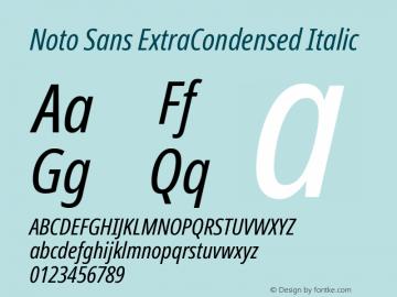 Noto Sans ExtraCondensed Italic Version 2.001;GOOG;noto-source:20181019:f8f3770;ttfautohint (v1.8.2)图片样张