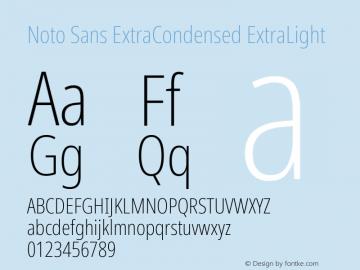 Noto Sans ExtraCondensed ExtraLight Version 2.001;GOOG;noto-source:20181019:f8f3770;ttfautohint (v1.8.2)图片样张