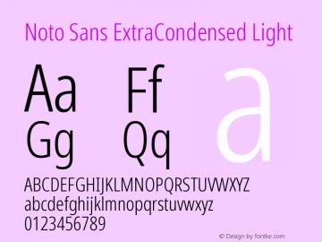 Noto Sans ExtraCondensed Light Version 2.001图片样张