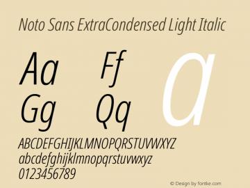 Noto Sans ExtraCondensed Light Italic Version 2.001图片样张