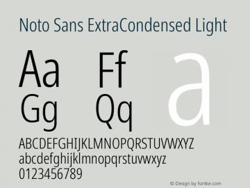 Noto Sans ExtraCondensed Light Version 2.001; ttfautohint (v1.8.2)图片样张