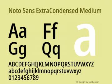 Noto Sans ExtraCondensed Medium Version 2.001; ttfautohint (v1.8.2)图片样张