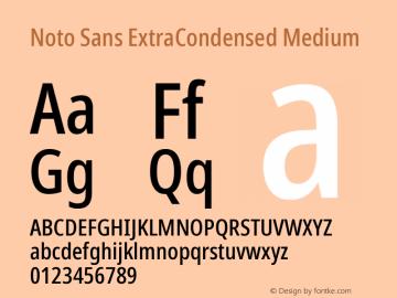 Noto Sans ExtraCondensed Medium Version 2.001;GOOG;noto-source:20181019:f8f3770;ttfautohint (v1.8.2)图片样张