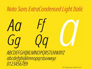 Noto Sans ExtraCondensed Light Italic Version 2.001;GOOG;noto-source:20181019:f8f3770;ttfautohint (v1.8.2)图片样张