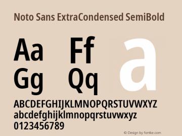 Noto Sans ExtraCondensed SemiBold Version 2.001; ttfautohint (v1.8.2)图片样张