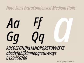 Noto Sans ExtraCondensed Medium Italic Version 2.001图片样张