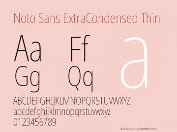 Noto Sans ExtraCondensed Thin Version 2.001; ttfautohint (v1.8.2)图片样张