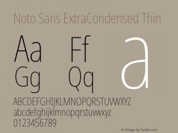 Noto Sans ExtraCondensed Thin Version 2.001;GOOG;noto-source:20181019:f8f3770;ttfautohint (v1.8.2)图片样张