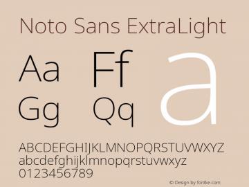 Noto Sans ExtraLight Version 2.001; ttfautohint (v1.8.2)图片样张