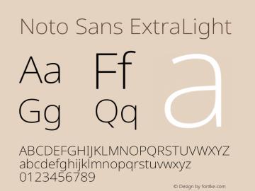 Noto Sans ExtraLight Version 2.001图片样张