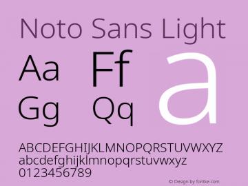 Noto Sans Light Version 2.001; ttfautohint (v1.8.2)图片样张