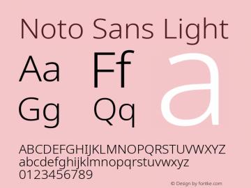 Noto Sans Light Version 2.001;GOOG;noto-source:20181019:f8f3770;ttfautohint (v1.8.2)图片样张