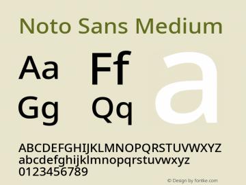 Noto Sans Medium Version 2.001; ttfautohint (v1.8.2)图片样张