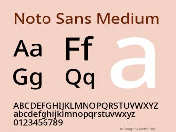 Noto Sans Medium Version 2.001图片样张