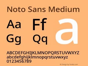 Noto Sans Medium Version 2.001;GOOG;noto-source:20181019:f8f3770;ttfautohint (v1.8.2)图片样张