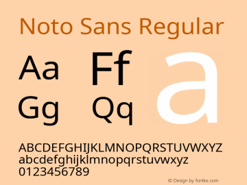 Noto Sans Regular Version 2.001;GOOG;noto-source:20181019:f8f3770;ttfautohint (v1.8.2)图片样张