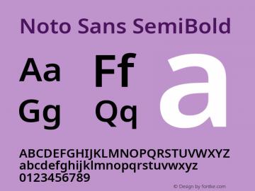 Noto Sans SemiBold Version 2.001; ttfautohint (v1.8.2)图片样张