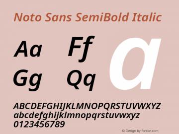 Noto Sans SemiBold Italic Version 2.001;GOOG;noto-source:20181019:f8f3770;ttfautohint (v1.8.2)图片样张