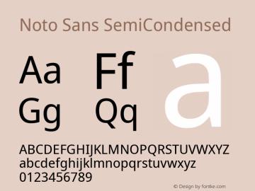Noto Sans SemiCondensed Version 2.001; ttfautohint (v1.8.2)图片样张