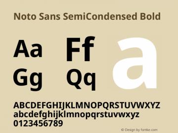 Noto Sans SemiCondensed Bold Version 2.001图片样张