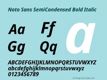 Noto Sans SemiCondensed Bold Italic Version 2.001图片样张