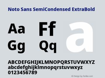 Noto Sans SemiCondensed ExtraBold Version 2.001; ttfautohint (v1.8.2)图片样张