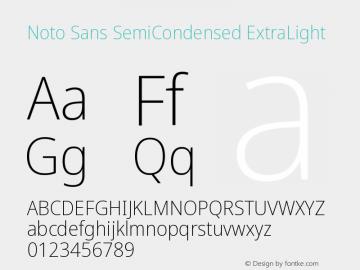 Noto Sans SemiCondensed ExtraLight Version 2.001图片样张