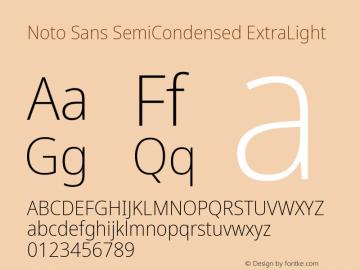 Noto Sans SemiCondensed ExtraLight Version 2.001;GOOG;noto-source:20181019:f8f3770;ttfautohint (v1.8.2)图片样张