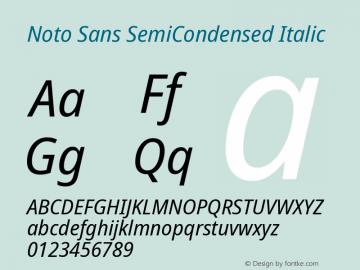Noto Sans SemiCondensed Italic Version 2.001; ttfautohint (v1.8.2)图片样张