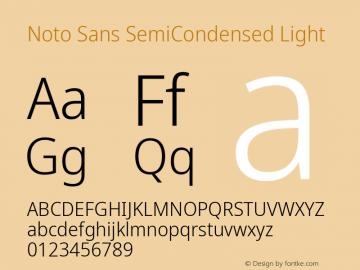 Noto Sans SemiCondensed Light Version 2.001; ttfautohint (v1.8.2)图片样张
