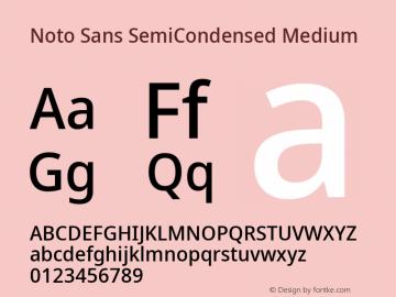 Noto Sans SemiCondensed Medium Version 2.001; ttfautohint (v1.8.2)图片样张