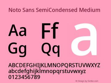Noto Sans SemiCondensed Medium Version 2.001图片样张