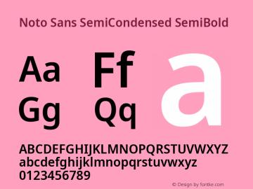 Noto Sans SemiCondensed SemiBold Version 2.001; ttfautohint (v1.8.2)图片样张