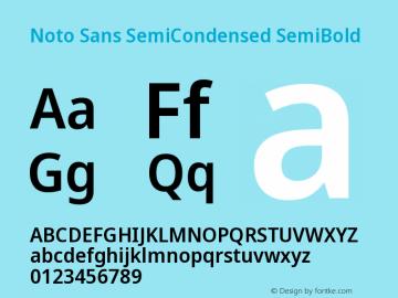 Noto Sans SemiCondensed SemiBold Version 2.001图片样张