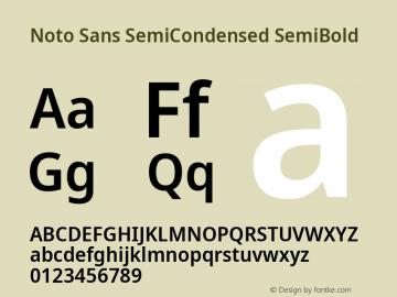Noto Sans SemiCondensed SemiBold Version 2.001;GOOG;noto-source:20181019:f8f3770;ttfautohint (v1.8.2)图片样张