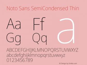 Noto Sans SemiCondensed Thin Version 2.001图片样张