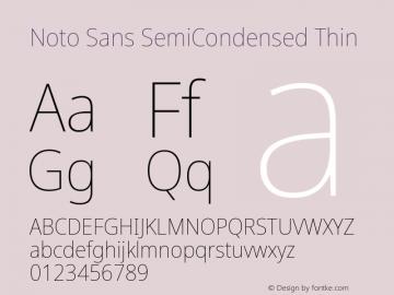 Noto Sans SemiCondensed Thin Version 2.001;GOOG;noto-source:20181019:f8f3770;ttfautohint (v1.8.2)图片样张