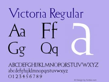 Victoria Font|Victoria Brendel :10 12 1994 Font-TTF Font