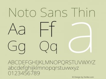 Noto Sans Thin Version 2.001图片样张