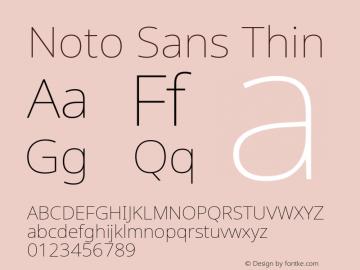 Noto Sans Thin Version 2.001;GOOG;noto-source:20181019:f8f3770;ttfautohint (v1.8.2)图片样张