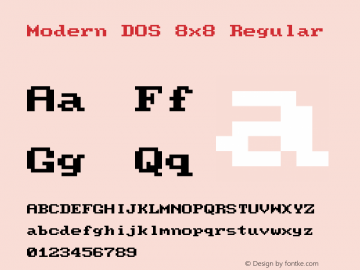 Modern DOS 8x8 20181216.02图片样张