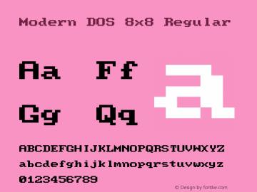 Modern DOS 8x8 20190101.01图片样张