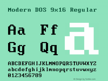 Modern DOS 9x16 20190101.01图片样张