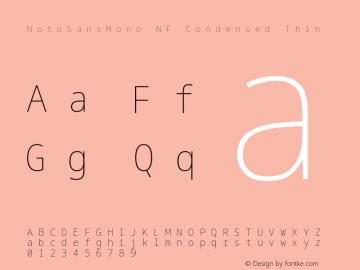 Noto Sans Mono Condensed Thin Nerd Font Complete Mono Windows Compatible Version 2.000;GOOG;noto-source:20170915:90ef993387c0; ttfautohint (v1.7)图片样张