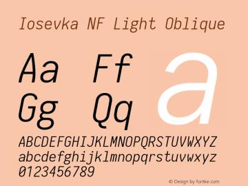 Iosevka Term Light Oblique Nerd Font Complete Mono Windows Compatible 1.14.0; ttfautohint (v1.7.9-c794)图片样张