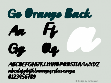 Go Orange Back Version 1.000图片样张