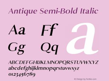 Antique Semi-Bold Italic 0.1.0图片样张