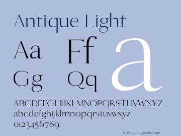 Antique Light 0.1.0图片样张
