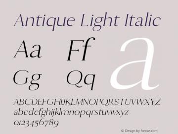 Antique Light Italic 0.1.0图片样张